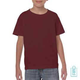 T-Shirt Kind Color Bedrukken bordeaux