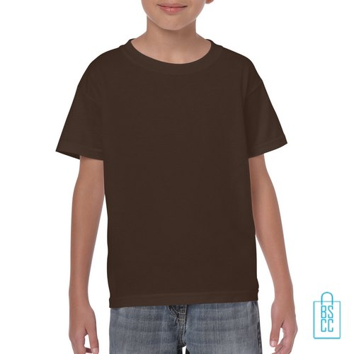 T-Shirt Kind Color Bedrukken bruin