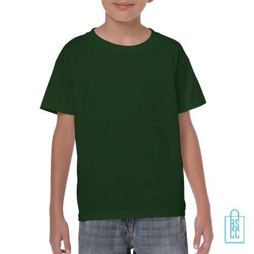 T-Shirt Kind Color Bedrukken donkergroen