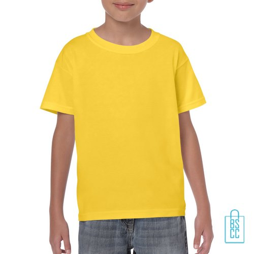 T-Shirt Kind Color Bedrukken geel