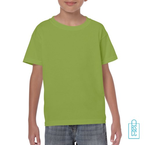 T-Shirt Kind Color Bedrukken kiwigroen