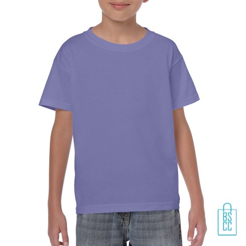 T-Shirt Kind Color Bedrukken lichtpaars