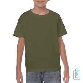 T-Shirt Kind Color Bedrukken militairgroen