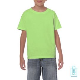 T-Shirt Kind Color Bedrukken neongeel