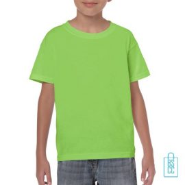 T-Shirt Kind Color Bedrukken neongroen