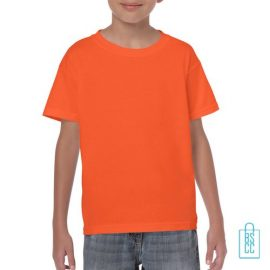 T-Shirt Kind Color Bedrukken oranje