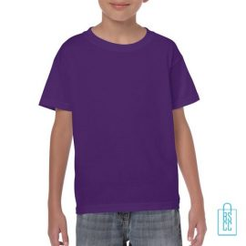 T-Shirt Kind Color Bedrukken paars