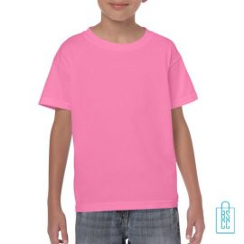 T-Shirt Kind Color Bedrukken roze