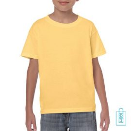 T-Shirt Kind Color Bedrukken zachtgeel