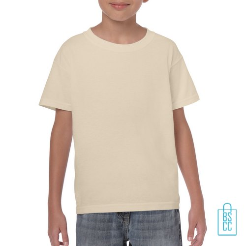 T-Shirt Kind Color Bedrukken zand