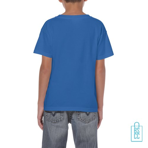 T-Shirt Kind Color Bedrukt blauw