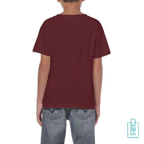 T-Shirt Kind Color Bedrukt bordeaux