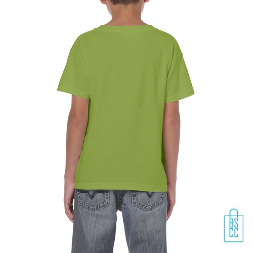 T-Shirt Kind Color Bedrukt kiwigroen