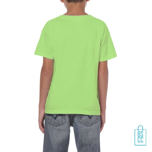 T-Shirt Kind Color Bedrukt neongeel