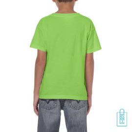 T-Shirt Kind Color Bedrukt neongroen