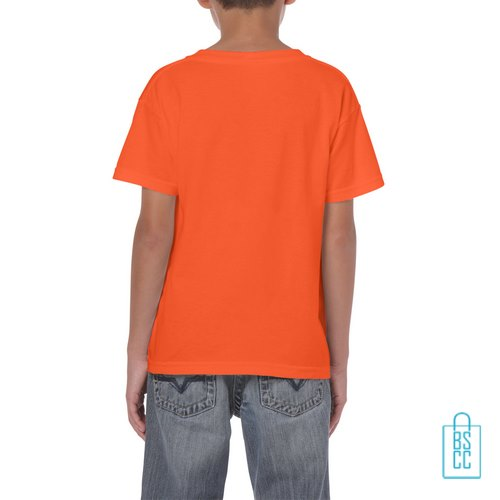 T-Shirt Kind Color Bedrukt oranje