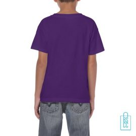 T-Shirt Kind Color Bedrukt paars