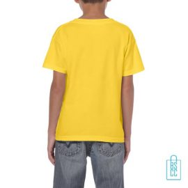 T-Shirt Kind Color bedrukt geel