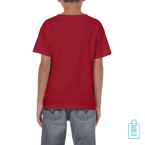 T-Shirt Kind Color bedrukt rood