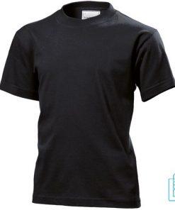 T-Shirt Kind Katoen bedrukken zwart