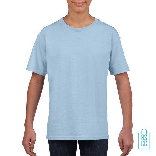 T-Shirt Kind Uni bedrukken babyblauw