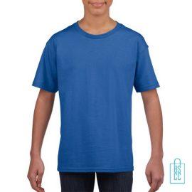 T-Shirt Kind Uni bedrukken blauw