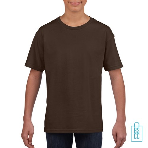 T-Shirt Kind Uni bedrukken bruin
