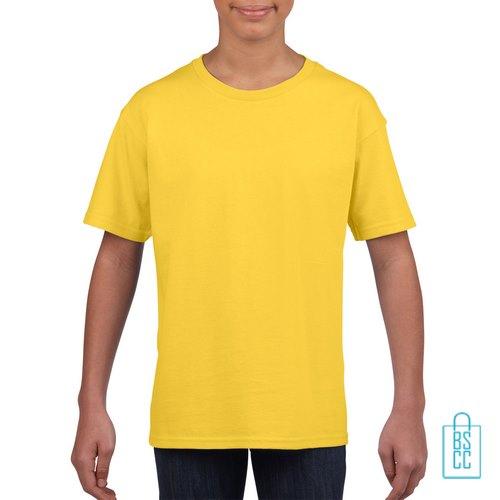 T-Shirt Kind Uni bedrukken geel