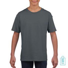 T-Shirt Kind Uni bedrukken grijs
