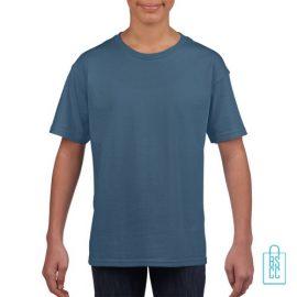 T-Shirt Kind Uni bedrukken indigo