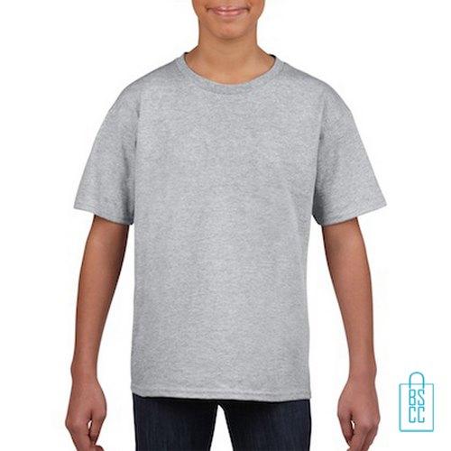 T-Shirt Kind Uni bedrukken lichtgrijs