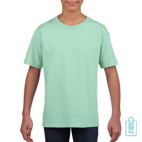 T-Shirt Kind Uni bedrukken mintgroen