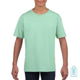 T-Shirt Kind Uni bedrukken mintgroe