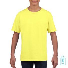 T-Shirt Kind Uni bedrukken neongeel