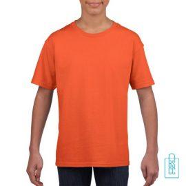T-Shirt Kind Uni bedrukken oranje