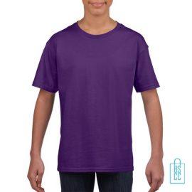 T-Shirt Kind Uni bedrukken paars