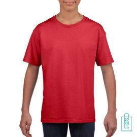 T-Shirt Kind Uni bedrukken rood