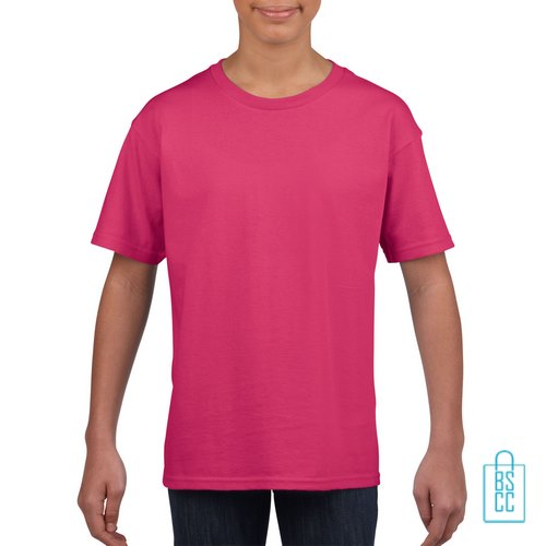 T-Shirt Kind Uni bedrukken roze