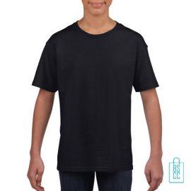T-Shirt Kind Uni bedrukken zwart