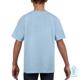 T-Shirt Kind Uni bedrukt babyblauw