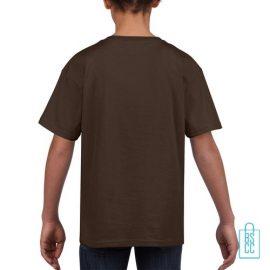 T-Shirt Kind Uni bedrukt bruin