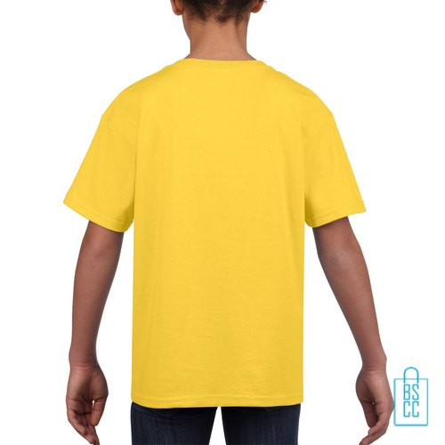 T-Shirt Kind Uni bedrukt geel