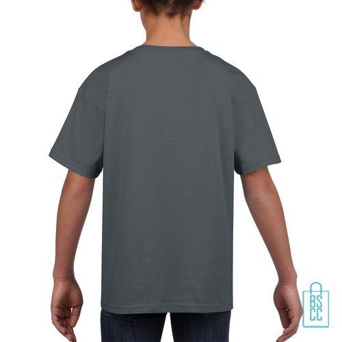 T-Shirt Kind Uni bedrukt grijs