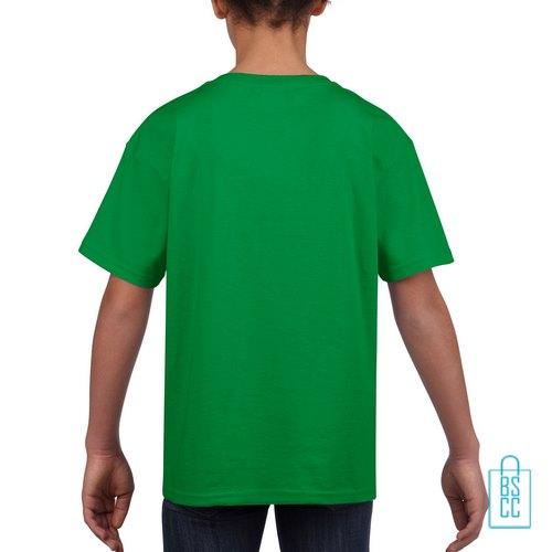 T-Shirt Kind Uni bedrukt groen
