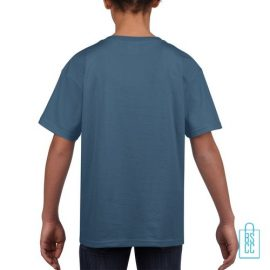 T-Shirt Kind Uni bedrukt indigo