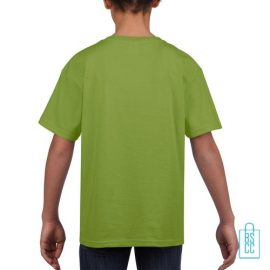 T-Shirt Kind Uni bedrukt kiwigroen