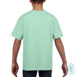 T-Shirt Kind Uni bedrukt mintgroen