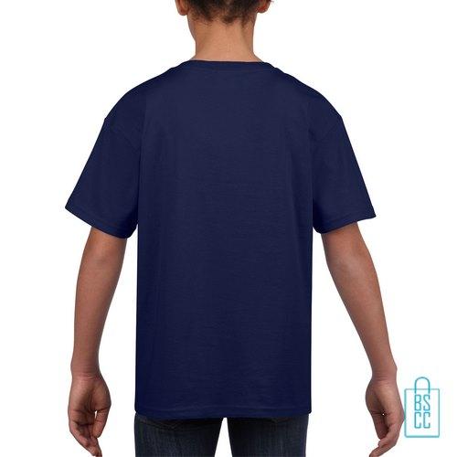 T-Shirt Kind Uni bedrukt navy