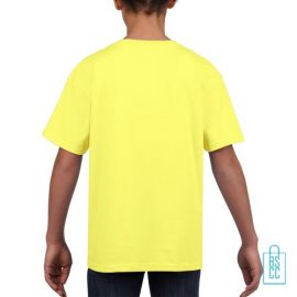 T-Shirt Kind Uni bedrukt neongeel