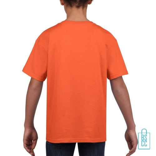 T-Shirt Kind Uni bedrukt oranje